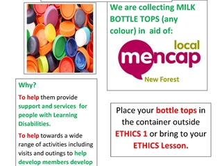 Bottle top challenge in aid of Mencap